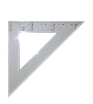 Domingo Ferrer Угольник 45°/45°, длина 25 см, шкала 17 см, акрилл
