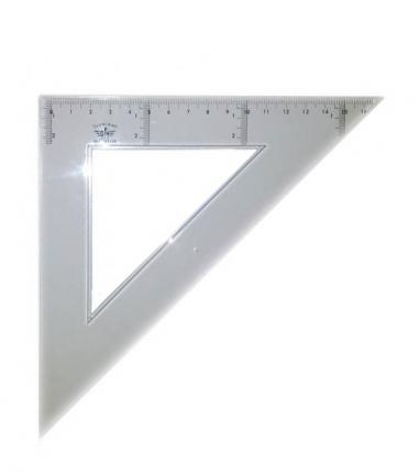 Domingo Ferrer Угольник 45°/45°, длина 50 см, шкала 34 см, акрилл