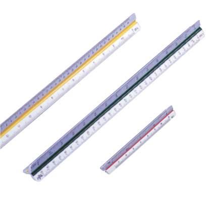 Domingo Ferrer Линейка масштабная,  30 см, 1:20, 1:25, 1:50, 1:75, 1:100, 1:125