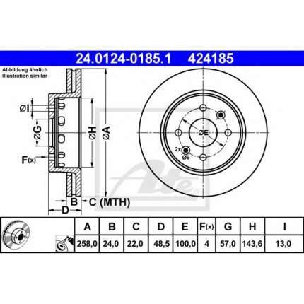 Тормозной диск ATE 24011201781