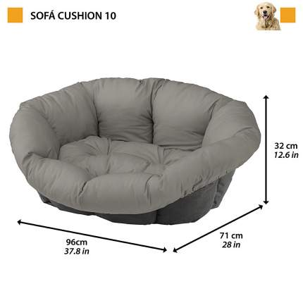 Запасная подушка Ferplast Sofa для Лежанкаа Siesta Deluxe 10, в ассортименте, 96х71х32 см