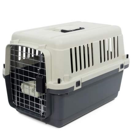 Переноска для домашних животных Triol Premium Medium, серая, 67,5х51х47 см
