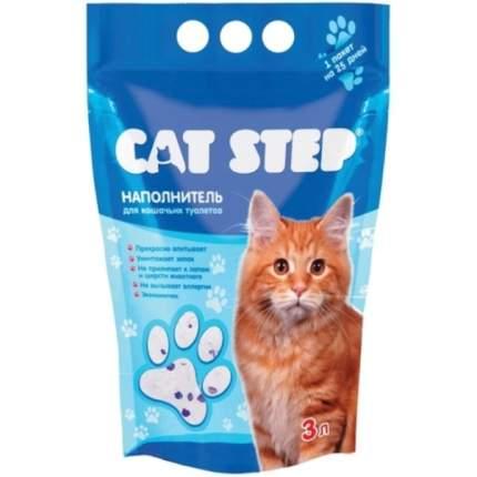 Впитывающий наполнитель для кошек Cat Step силикагелевый, 1.4 кг, 3 л