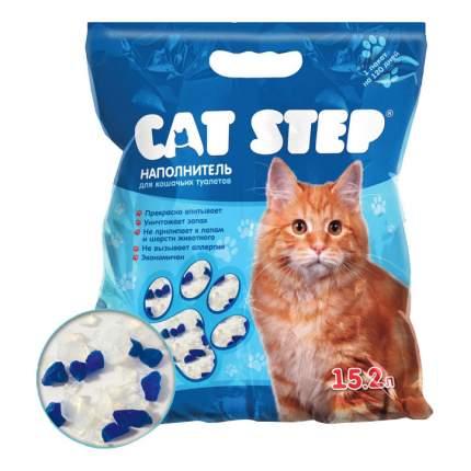 Впитывающий наполнитель для кошек Cat Step силикагелевый, 6,68 кг, 15.2 л