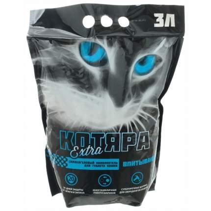 Комкующийся наполнитель для кошек Котяра Extra силикагелевый, 1.3 кг, 3 л
