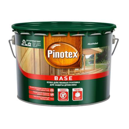 Грунт антисептик Pinotex Base для защиты древесины от плесени, грибка, гнили 9 л
