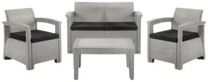 Набор садовой мебели Idea Soft 4 light gray; dark gray 4 предмета