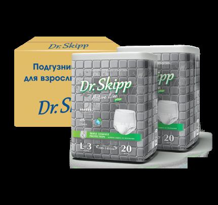 Подгузники для взрослых Dr. Skipp Active Line р. L 2 х 20 шт.