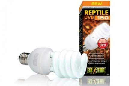 Ультрафиолетовая лампа для террариума Exo Terra Repti Glo 10.0 Compact, 25 Вт