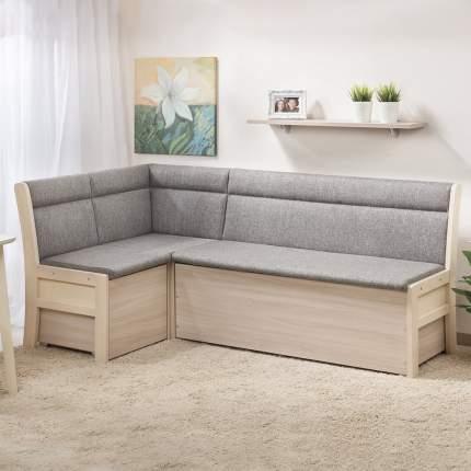 Кухонный угловой диван Боровичи-мебель Модерн эскада/выбеленная береза 15733