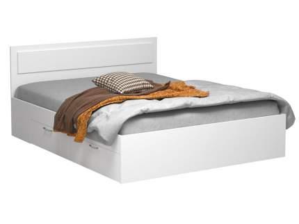 Односпальная кровать Жаклин с ящиками Белый, 900х2000 мм