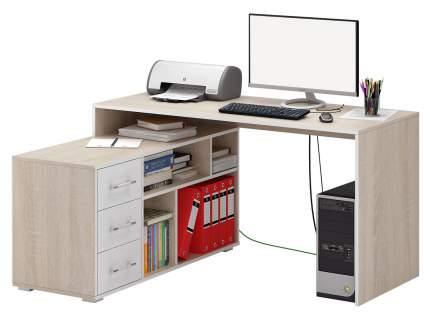 Компьютерный стол Краст-2 Дуб сонома/Белый