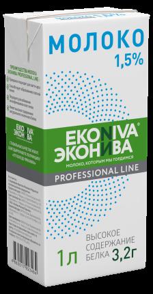 Молоко 1,5% ультрапастеризованное 1 л ЭкоНива Professional line