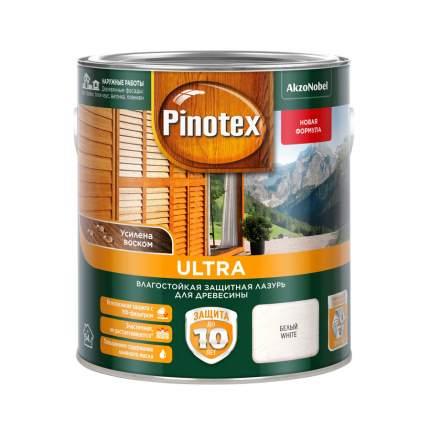 Защитная лазурь Pinotex Ultra влагостойкая для древесины белая 2,7 л