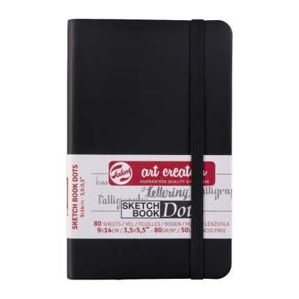 Скетчбук для зарисовок Talens Art Creation 80г/квм 9*14см 80 л слон кость точка черная