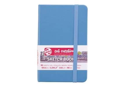 Скетчбук для зарисовок  Talens Art Creation 140г/квм 9*14см 80 л слон кость тв син обложк