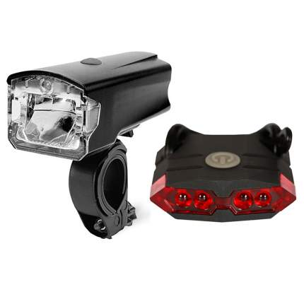 Набор светодиодных фонарей, 2 шт., черный, MoscowCycling MC-LMP-04