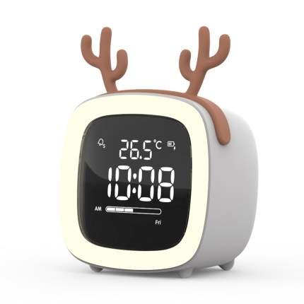 Часы будильник, цвет белый, 8х7х9 см, Lumobook LB-NLC-08