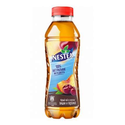 Холодный чай Nestea черный вишня и персик 0,5 л