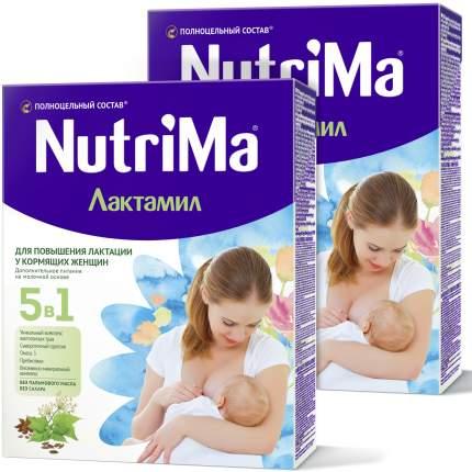 Молочный напиток для кормящих мам Nutrima Лактамил, Нутрима без сахара, 350 г. (2 штуки)