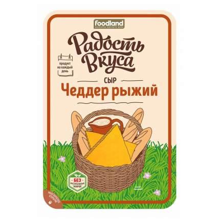 Сыр полутвердый Радость Вкуса Чеддер рыжий 45% 150 г