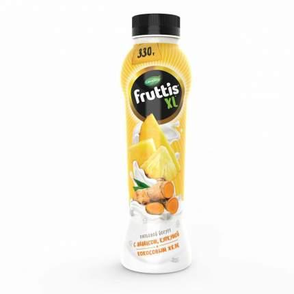 Питьевой йогурт Fruttis XL с ананасом куркумой и кокосовым желе 2% 330 г