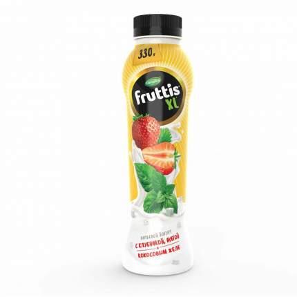 Питьевой йогурт Fruttis XL с клубникой мятой и кокосовым желе 2% 330 г