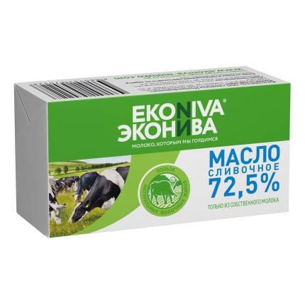Сливочное масло несоленое ЭкоНива 72,5% 180 г