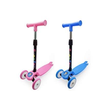 Самокат Funky Toys 3-колесный, складной, с регулируемой ручкой, свет, 2 цвета