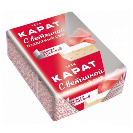 Сыр плавленый Карат С ветчиной 45% БЗМЖ 90 г