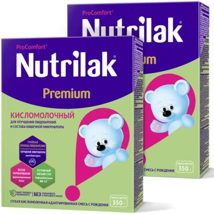 Молочная смесь Nutrilak Premium Кисломолочный, Нутрилак с рождения, 350 г. (2 штуки)