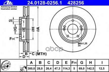 Тормозной диск ATE 24012802561
