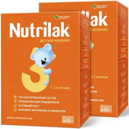Молочная смесь Nutrilak 3, с 12 мес., Нутрилак, 600 г. (2 штуки)