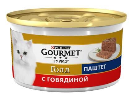 Консервы для кошек Gourmet Gold, паштет, говядина, 85г