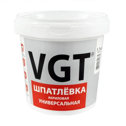 """Шпатлевка универсальная акриловая 1,7 кг """"Vgt"""""""