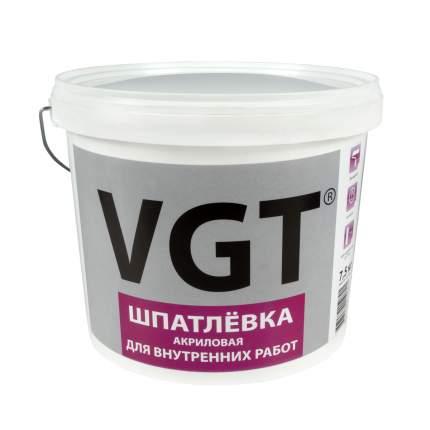 """Шпатлевка для внутренних работ 7,5 кг """"Vgt"""""""