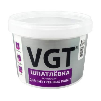 """Шпатлевка для внутренних работ 3,6 кг """"Vgt"""""""
