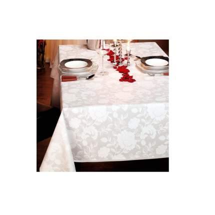 Скатерть овальная Verona 140х190 см (100%хлопок), белый