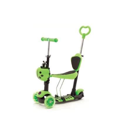 Кикборд Slider SR1NG со светящимися колесами 5 в 1 трехколесный зеленый