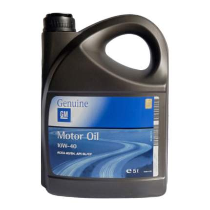Моторное масло General Motors Semi Synthetic 10W-40 5л