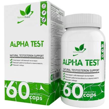 Бустер тестостерона NaturalSupp Alpha Test 675 мг капсулы 60 шт.