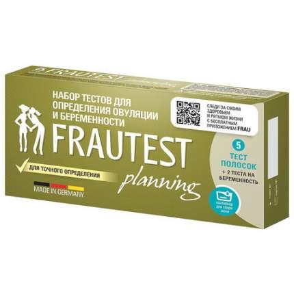 Тест на овуляцию и беременность Frautest Planning, набор тест-полосок 5+2 шт.