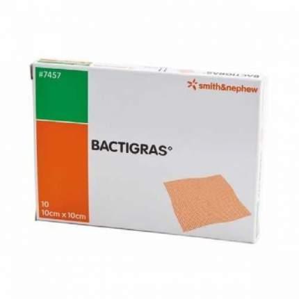 Марлевая повязка с хлоргексидина ацетатом, 10x10 см Bactigras