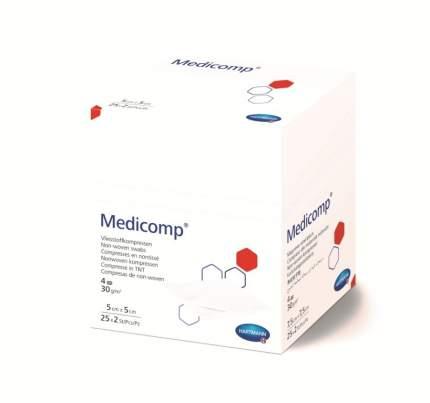 Стерильная нетканая салфетка, 5x5 см, 50 шт. Medicomp