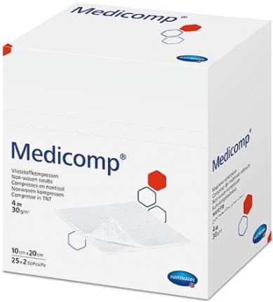 Стерильная нетканая салфетка, 10x20 см 50 шт. Medicomp
