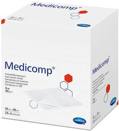 Стерильная нетканая салфетка, 10x10 см 50 шт. Medicomp