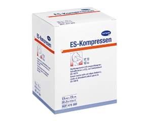 Нестерильная нетканая салфетка, 10х10 см, 8 слоев, 17 нитей, 100 шт. Es-Kompressen
