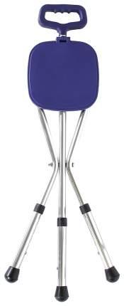 Трость-стул складная, с регулируемой высотой, металлическая Amrus AMCS37