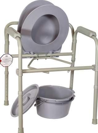 Кресло-туалет, с пластиковой спинкой, складное, стальное Amrus AMCB6806