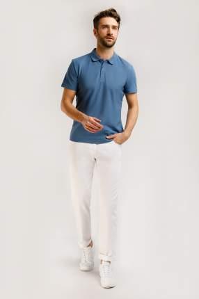 Футболка-поло мужская Finn Flare B20-21035 голубая 4XL